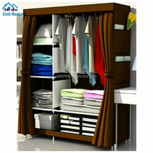 Simple using foldable non woven wardrobes,cheap canvas wardrobe,closet organizer