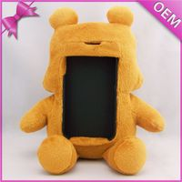 China supplier Factory so cute plush bear Mobile phone holder for all model phone