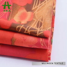 Mulinsen Textile Silk Feeling Multicolor Solid Dye Koshibo Polyester Pastel Color Printing Fabric