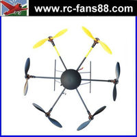 LOTUS RC UFO T700 Folding Hexacopter FPV Aircraft Multicopter Frame Kit with Landing Skid