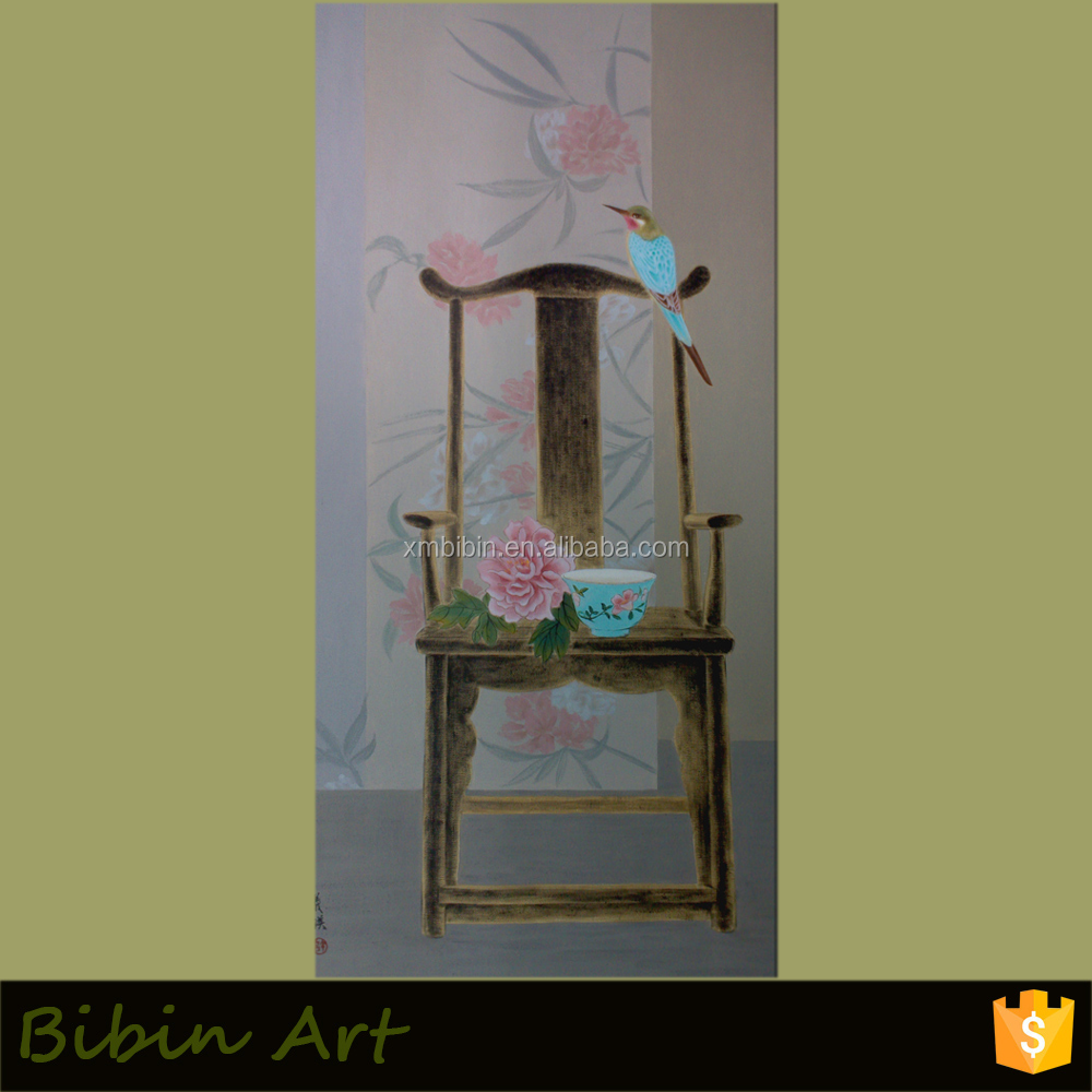 Canvas Top High Quality Still Life Chair Oil Painting for House