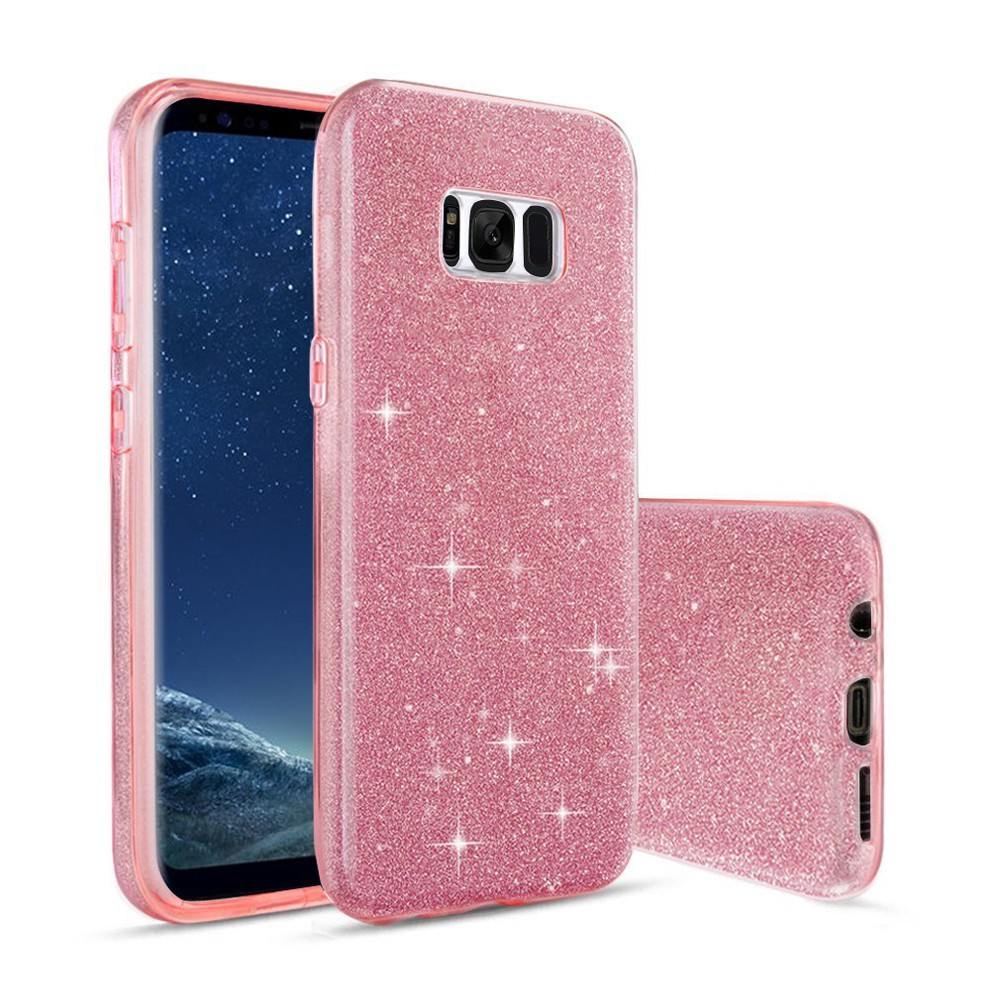 C&T Ultra Slim Sparkle 3 Layer Hybrid Protective Shiny Shell Lightweight Soft TPU Cover for Samsung Galaxy S8