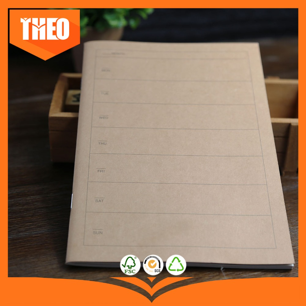 2016 hot blank cheap a4 kraft paper cover notebook