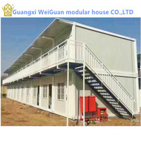 Luxury 2 storey combination container house for sales