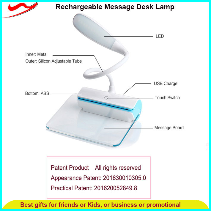 360 degree flexible smart touch usb small nightstand lamps