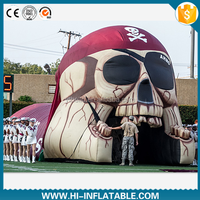 Custom made inflatable pirate tunnel, inflatable entrance tunnel, inflatable football tunnel No.b002 for sale