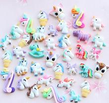 Mixed Colors Resin Crafts Unicorn Horse <strong>Charms</strong> For DIY Phone Decoration Slime Kit Flat Back Kawaii Cabochons Toys For Hair