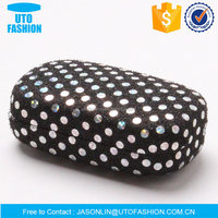 YT3002CL dazzling polka dots pattern fashion iron contact lenses case