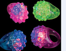 Led toy for party strawberry finger ring
