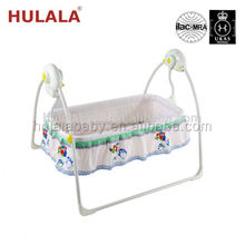 Leather Cradle Swing Net Baby Bed With Drawer Canopy