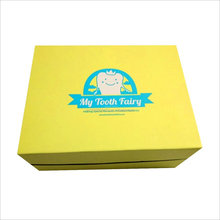 Elegant white cardboard folding storage tooth brush box with lid