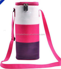 Custom 600D Red Wine Bottle Holder Carrier Cooler Sleeve Carry Bag
