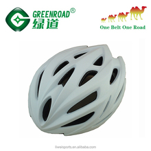 In-mold MTB bicycle helmet with visor for cycling sports