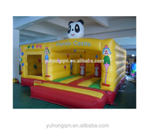 High quality castle inflatable houses tarpaulin panda inflatable jumping castles