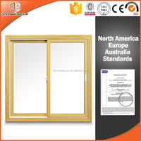 Beautiful picture wood clad aluminum sliding window for windows and doors customers