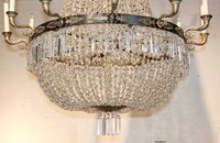 Church large led chandelier light fixtures modern Pendant crystal chandelier Villa Hotel Copper + candle light stair lighting