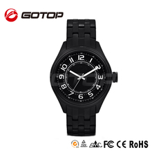 China wholesale black color wrist watch stainless steel back sl68 watch movement factory
