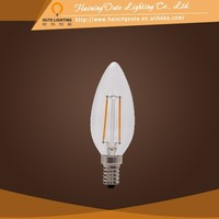 Factory directly sales electric candle light led candle filament bulb