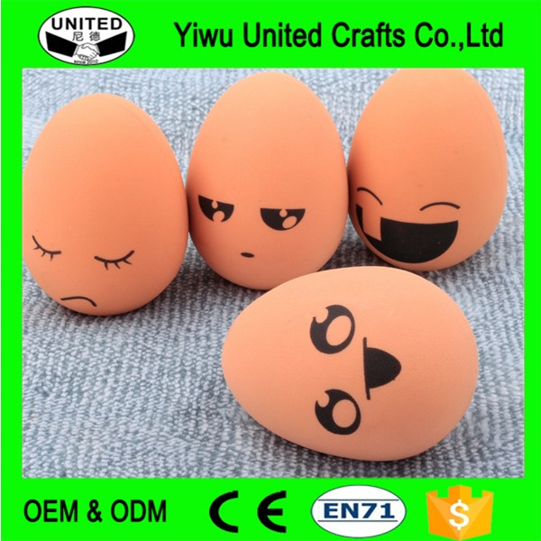 Wholesale Rubber bouncing fake egg school Childrens Toy eggs