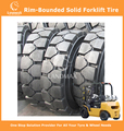 Rim-Bounded Solid Tyres Forklift Tyres 16x6-8/4.33
