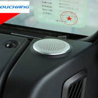 For Land Rover Defender For Jaguar XE/XF Car Dashboard Circular Speaker Cover Trim Sticker Accessories Alu Parts
