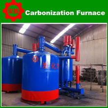 air flow Cylindrical shape biomass briquette carbonizing furnace
