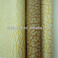 Leaf Vein Pattern PVC Artificial Leather For Upholstery