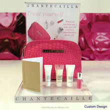 Custom gift bag display stand travel makeup bag display, travel makeup display