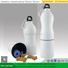 double walled two section-travel water bottle, Dual purpose bottle for storing and water bottle