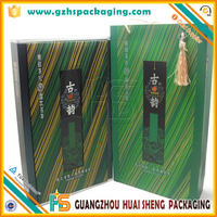 delicate high grade gift box and bag for tea gift set packaging