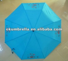 Shenzhen high quality 3 folding color changeable umbrella