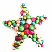 new handmade star shape plastic molded outdoor crafts Christmas decorations
