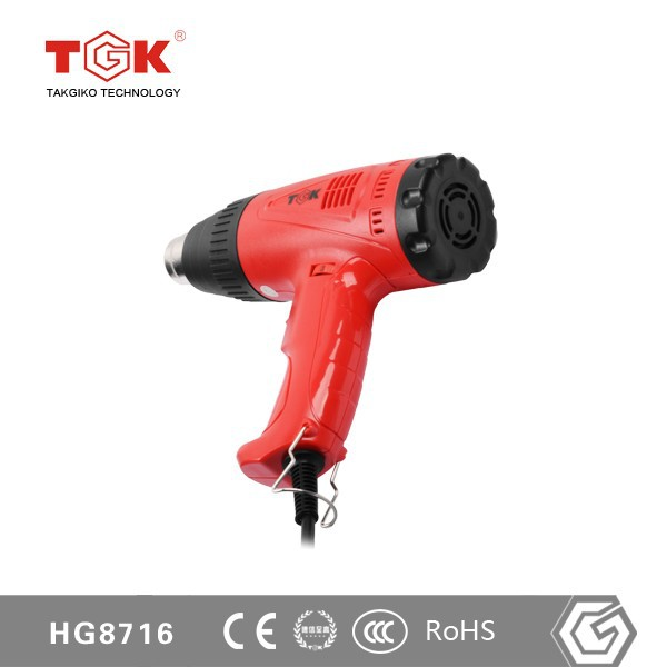 110V <strong>U</strong>.S. Plug HG8716 1600W Temperature Adjustable Heat Air Gun