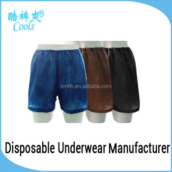 Wholesale Mens Boxer Shorts Disposable Men's Nonwoven Boxer Shorts Sexy Boxer