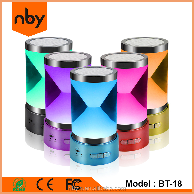 Portable Acrylic Bluetooth Speaker with Flashing Colorful Led Light