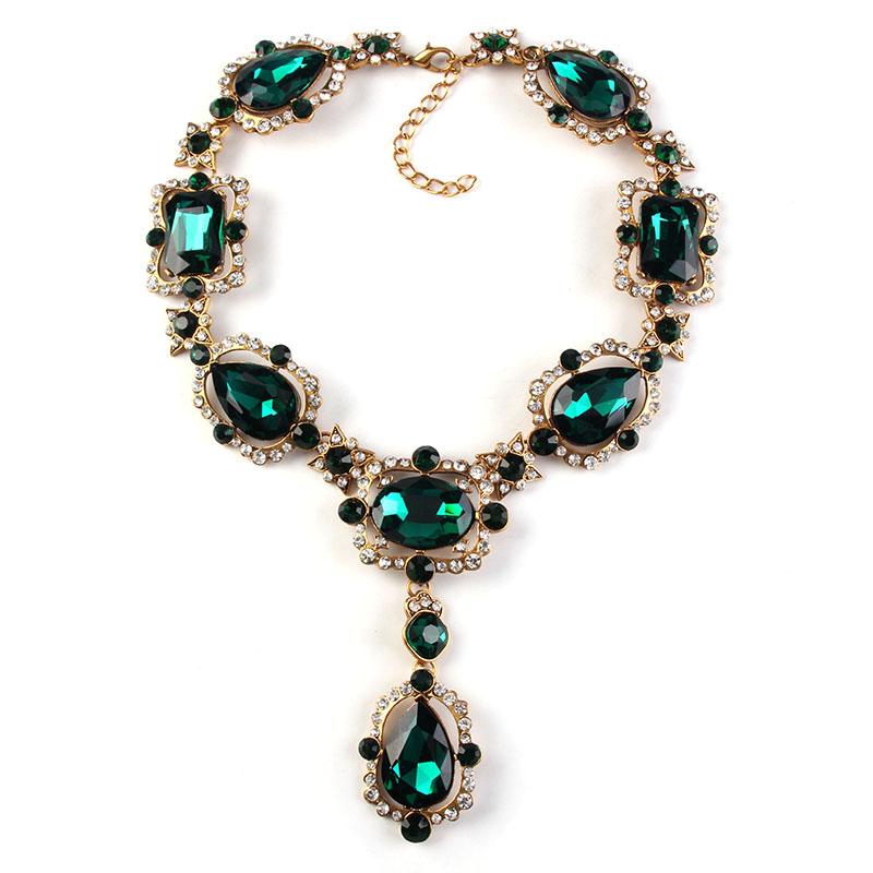 2016 fancy jewelry chain statement choker necklace