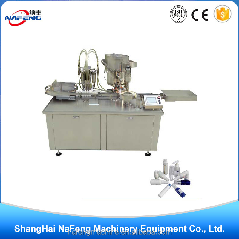 High speed soap liquid spray filling capping production line