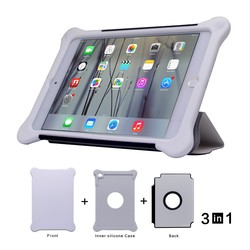 3 in 1 cheap table case for ipad mini case ,factory supply in stock , custom design OEM ODM for ipad cases and covers