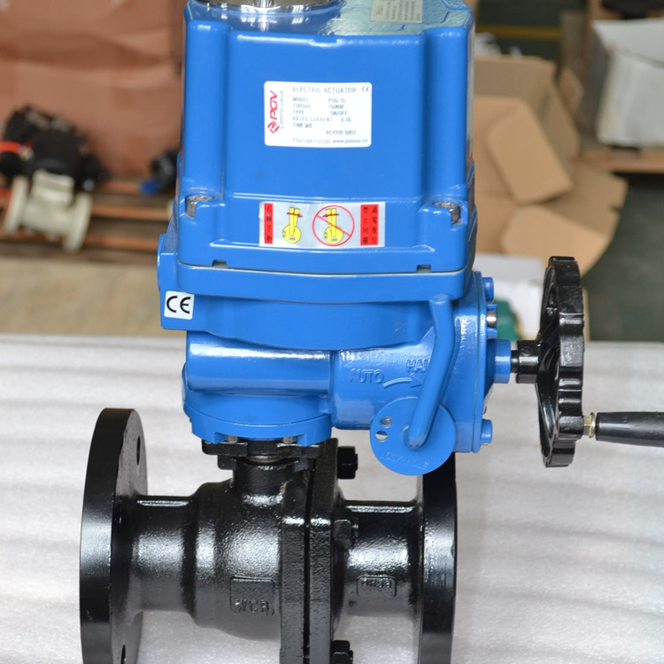 flange connection electric ball valve ss304