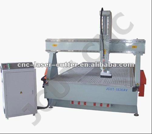 China JCUT woodworking machinery olive wood board v groove cutting router machine