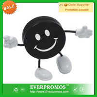 Hockey Puck Figure Stress Reliever with Logo for promotion