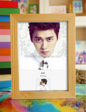 best selling CE magic solid wood mirror photo frame for couple/family/BF