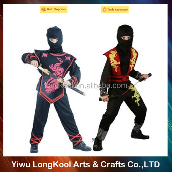 Top quality children halloween masquerade costume cosplay ninja costume with nunchaku
