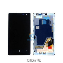 mobile phone display screen for nokia lumia 1020 lcd with touch digitizer with frame assembly N1020 replacement repair parts