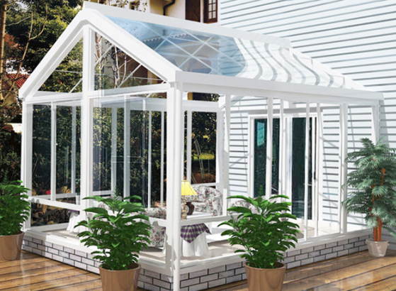factory price sun room design winter garden glass room made in china