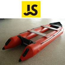 PVC inflatable rubber canoe kayak with outboard motor