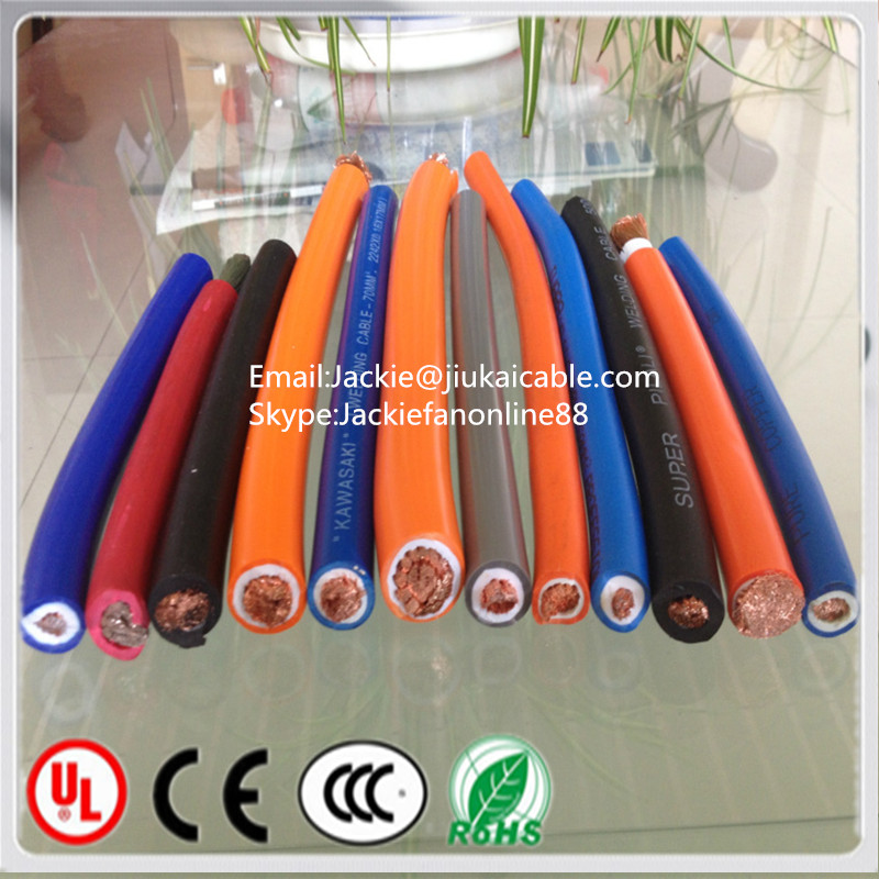Super Quality Flexible Copper Rubbe With Low Price 70mm2 welding cable best arc welding rods