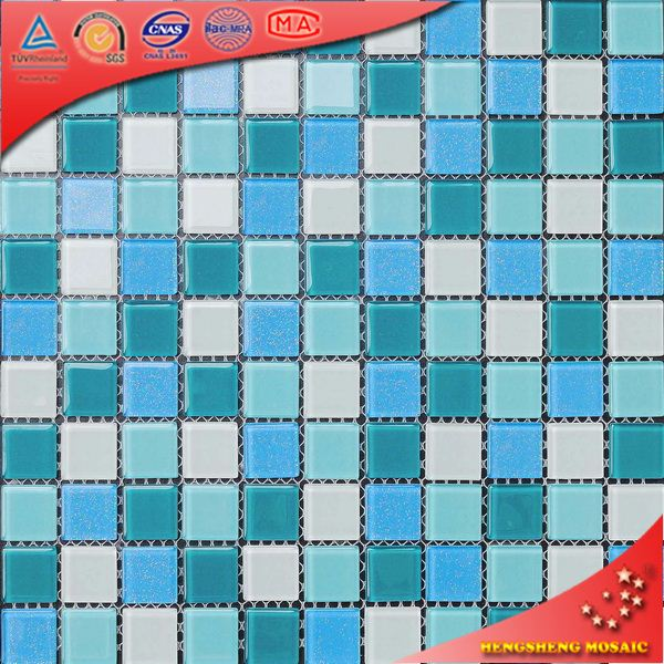 H2025 Shiny Glass Mosaics Tile Swimming Pool Design Pattern for Sale