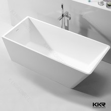 white bathroom vanity artificial stone / poly marble free standing bathtub