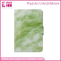 new fashion marble leather cover for ipad case genuine leather sleeve for ipad mini PU leather case for ipad air 2 case